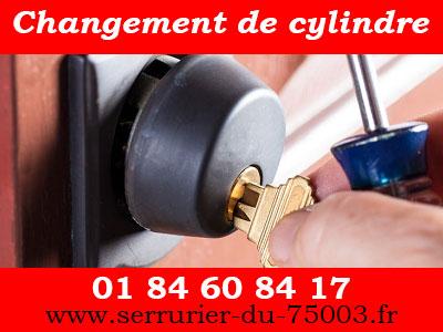 changement de cylindre sur Paris 3