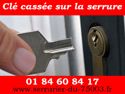 Ouverture porte Paris 3 pour clé cassée